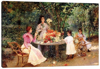 Teatime in the Garden,  Canvas Art Print
