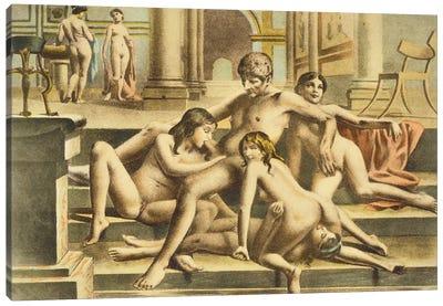 Ancient Times, plate X of 'De Figuris Veneris' , 1900  Canvas Art Print