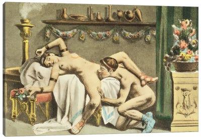 Ancient Times, plate XII of 'De Figuris Veneris' , 1900  Canvas Art Print