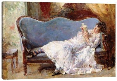 A Lady Reading,  Canvas Art Print