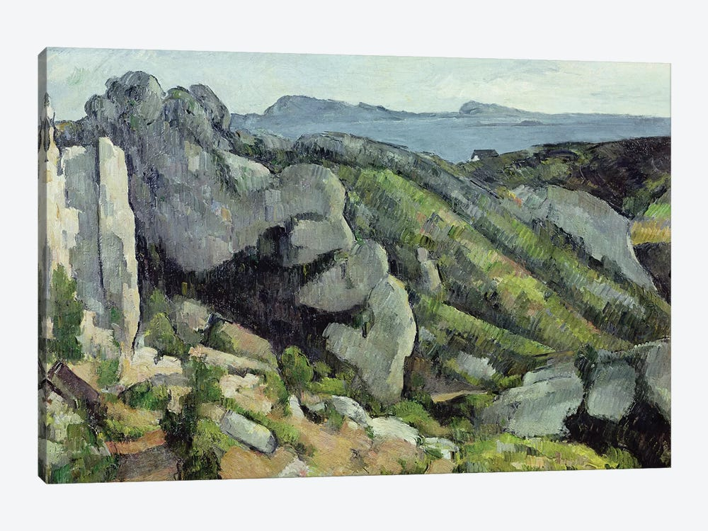 Rocks at L'Estaque, 1879-82  by Paul Cezanne 1-piece Art Print