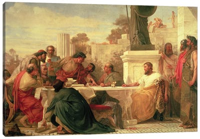 Julian the Apostate  Presiding at a Conference of Sectarians, 1875  Canvas Art Print