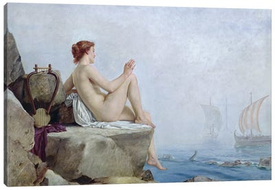 The Siren, 1888  Canvas Art Print