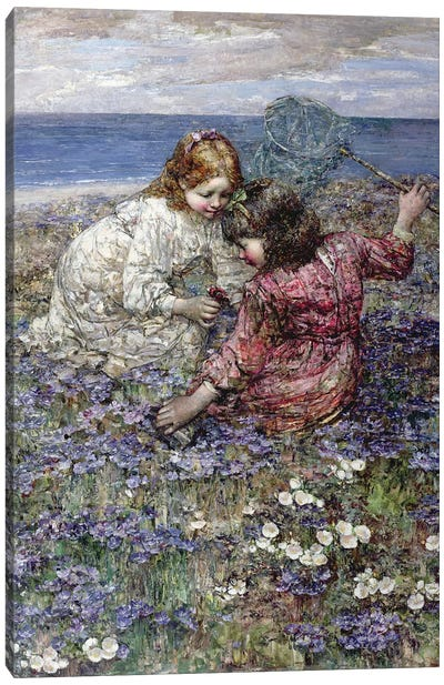 After the Butterfly Chase, 1911  Canvas Art Print