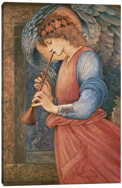 An Angel Playing a Flageolet, 1878  Canvas Art Print