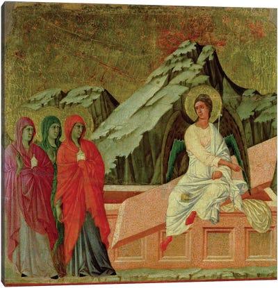 Maesta: The Three Maries at Christ's Tomb, 1308-11 Canvas Art Print