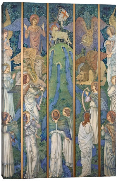 Paradise, with the Worship of the Holy Lamb, c.1875-80  Canvas Art Print