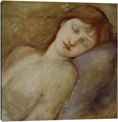 Study for the Sleeping Princess in 'The Briar Rose' Series, c.1881  Canvas Art Print