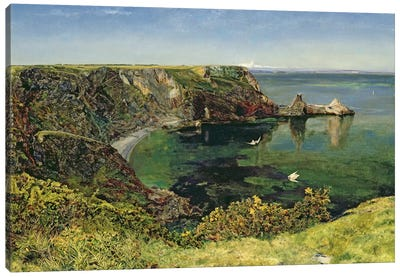 Anstey's Cove, Devon, 1854 Canvas Art Print