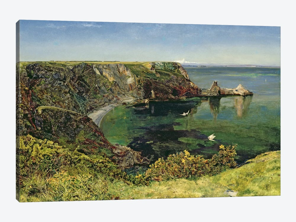 Anstey's Cove, Devon, 1854  by John William Inchbold 1-piece Canvas Art Print