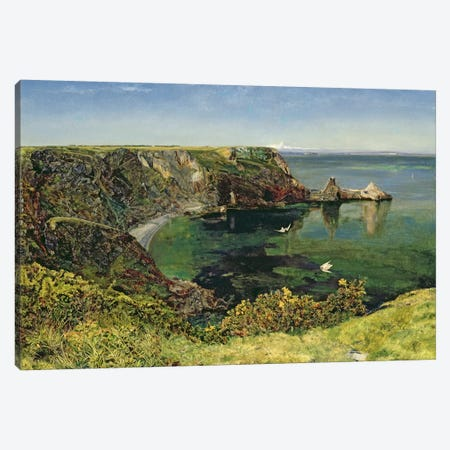 Anstey's Cove, Devon, 1854  Canvas Print #BMN1006} by John William Inchbold Canvas Art Print