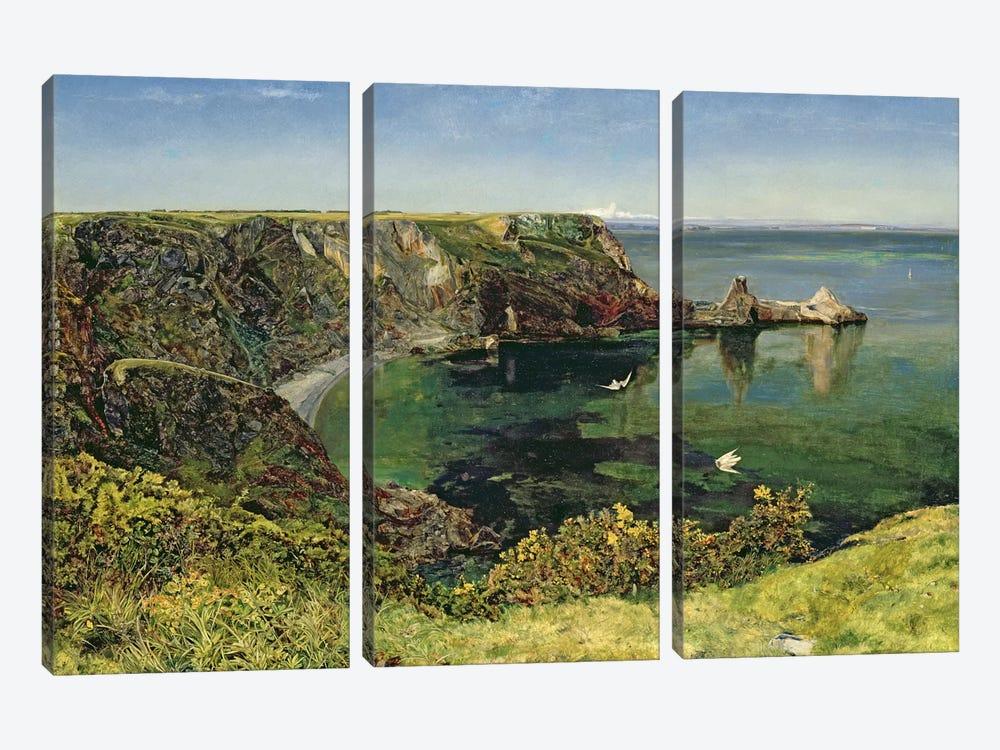 Anstey's Cove, Devon, 1854  by John William Inchbold 3-piece Art Print