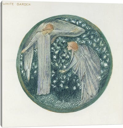 The Flower Book: XXXIV. White Garden, 1905  Canvas Art Print