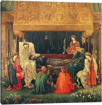 The last sleep of Arthur in Avalon, 1881-98  Canvas Art Print