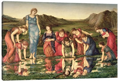 The Mirror of Venus, 1870-76  Canvas Art Print