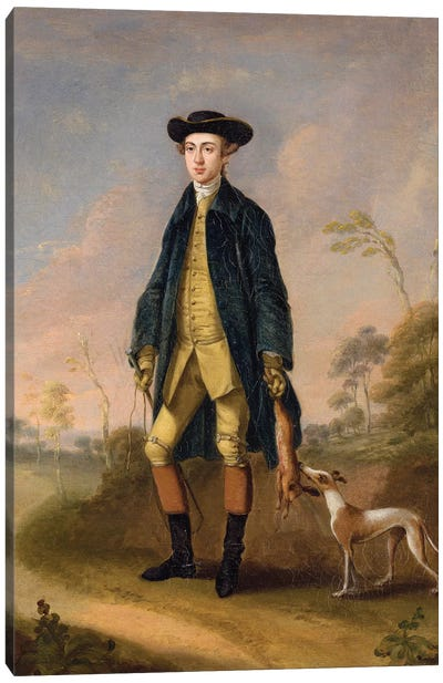 Huntsman with a Whippet  Canvas Art Print