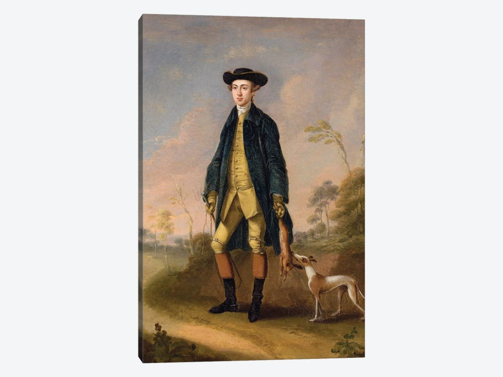 Huntsman with a Whippet  by Edward Haytley 1-piece Canvas Wall Art