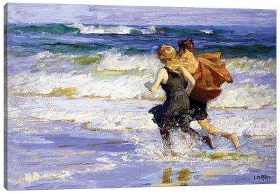 At the Beach,  Canvas Art Print