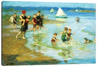 Children at Play on the Beach,  Canvas Art Print
