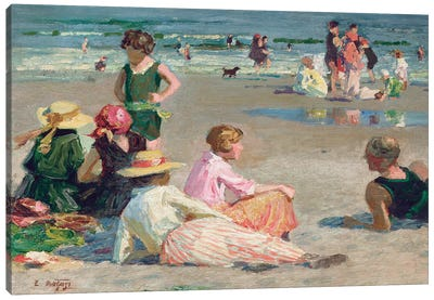 Manhattan Beach  Canvas Art Print
