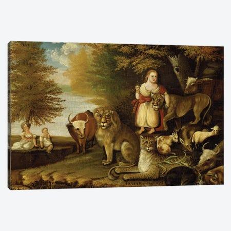 Peaceable Kingdom, c.1830-32  Canvas Print #BMN10090} by Edward Hicks Canvas Art