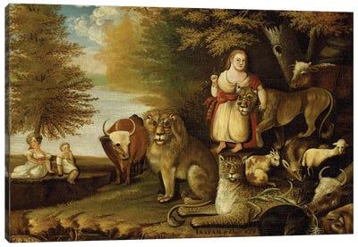 Peaceable Kingdom, c.1830-32  Canvas Art Print