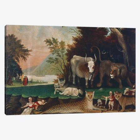 Peaceable Kingdom, c. 1848 Canvas Print #BMN10092} by Edward Hicks Canvas Artwork