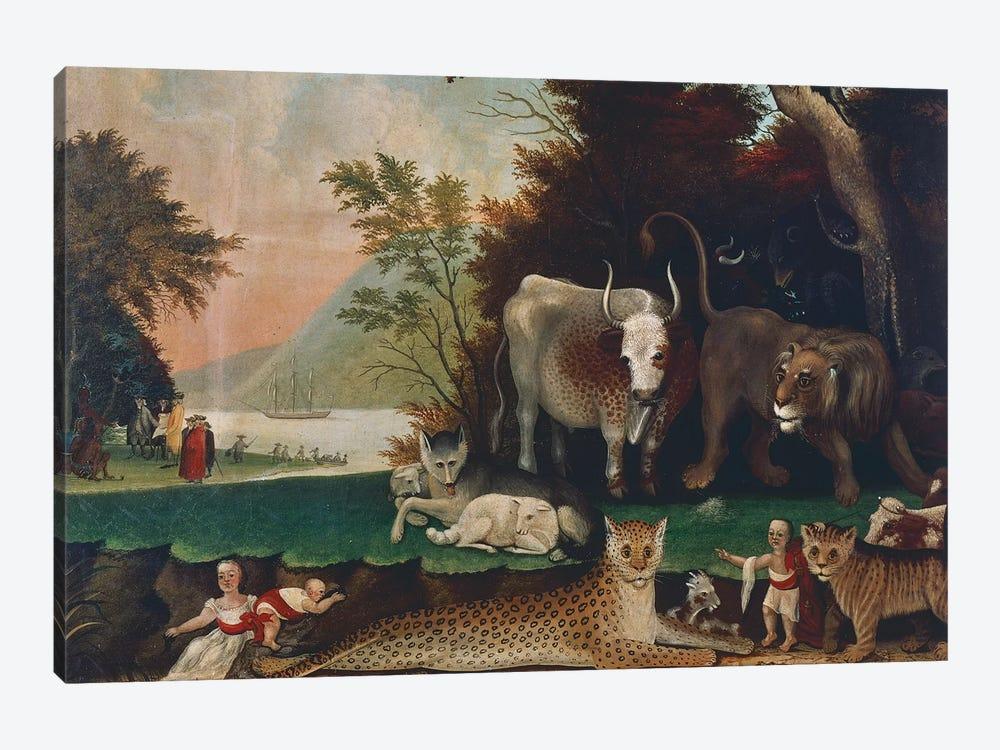 Peaceable Kingdom, c. 1848 by Edward Hicks 1-piece Canvas Art Print