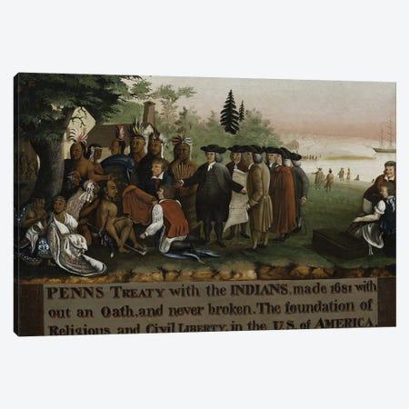 Penn's Treaty with the Indians, 1840-45  Canvas Print #BMN10093} by Edward Hicks Canvas Art