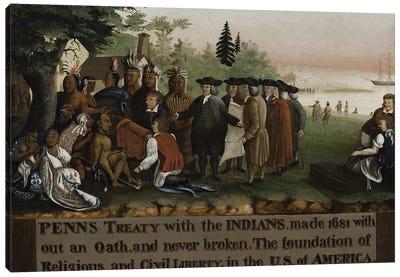 Penn's Treaty with the Indians, 1840-45  Canvas Art Print