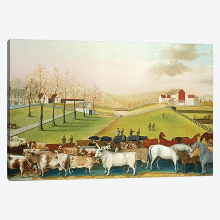 The Cornell Farm, 1848  Canvas Print #BMN10094} by Edward Hicks Canvas Art Print