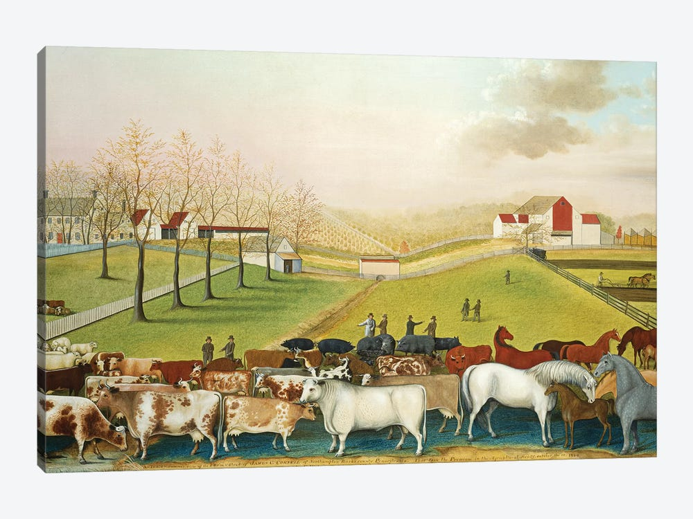 The Cornell Farm, 1848  by Edward Hicks 1-piece Canvas Print