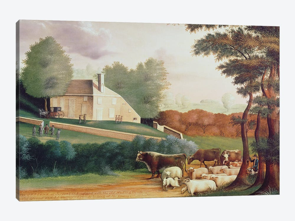 The Grave of William Penn  by Edward Hicks 1-piece Canvas Artwork