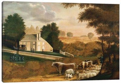The Grave of William Penn, 1848  Canvas Art Print