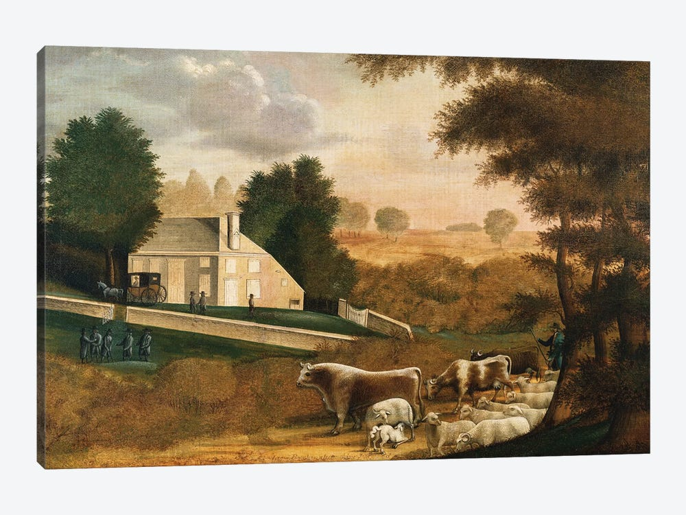 The Grave of William Penn, 1848  by Edward Hicks 1-piece Canvas Art