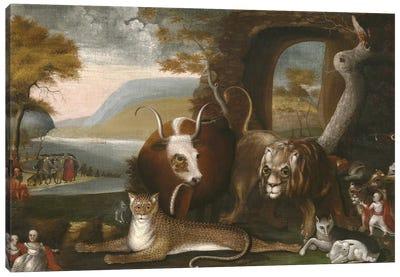 The Peaceable Kingdom and Penn's Treaty, 1845  Canvas Art Print