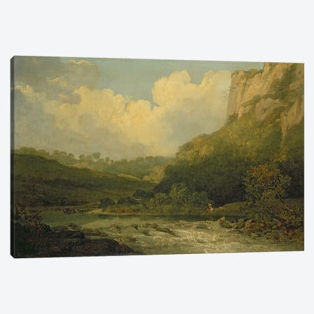 High Tor, Matlock, 1811  Canvas Print #BMN1009} by John Crome Canvas Art