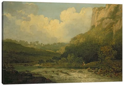 High Tor, Matlock, 1811 Canvas Art Print