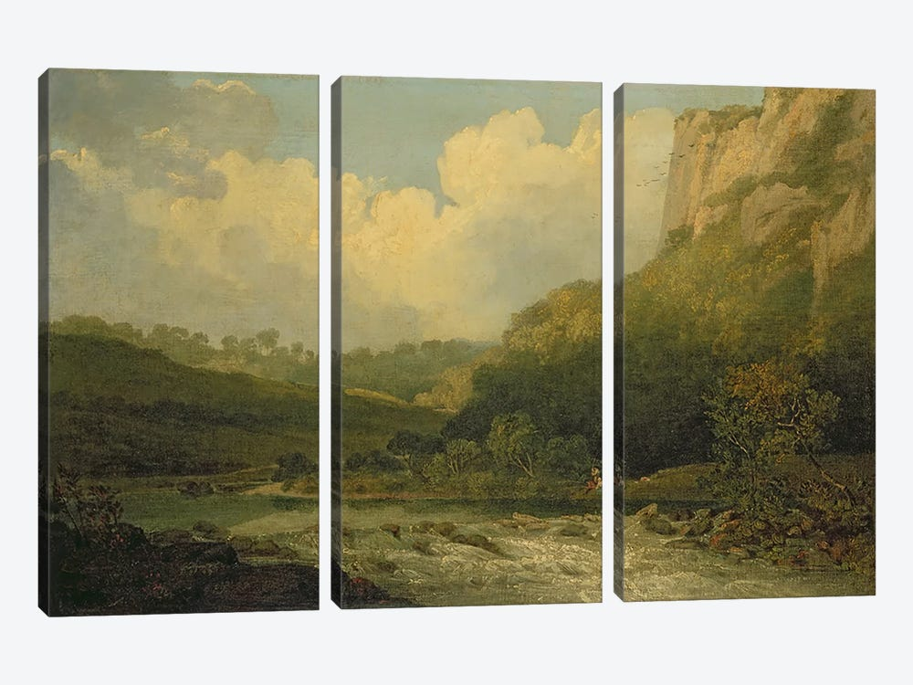 High Tor, Matlock, 1811  by John Crome 3-piece Canvas Art