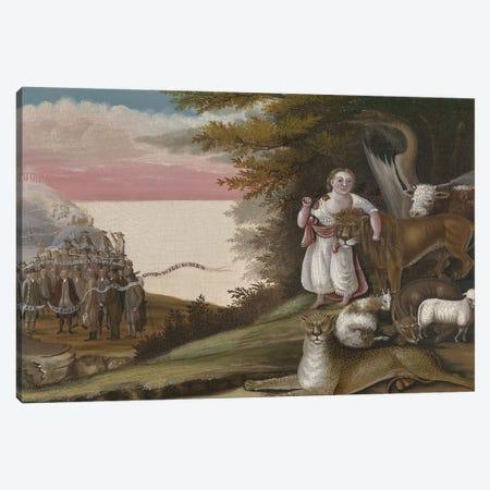 The Peaceable Kingdom, 1829-30  Canvas Print #BMN10100} by Edward Hicks Canvas Artwork
