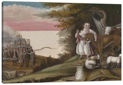 The Peaceable Kingdom, 1829-30  Canvas Art Print