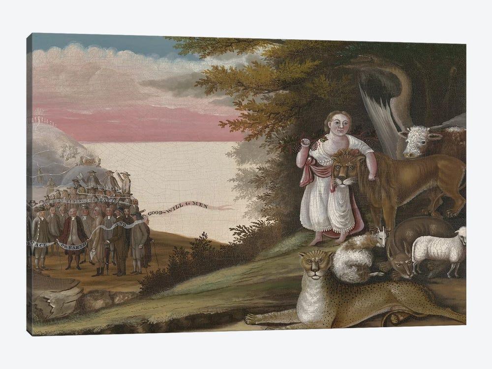 The Peaceable Kingdom, 1829-30  by Edward Hicks 1-piece Canvas Print