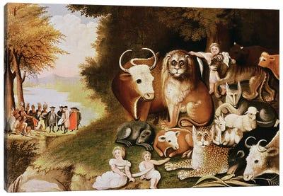 The Peaceable Kingdom, 1832-34  Canvas Art Print