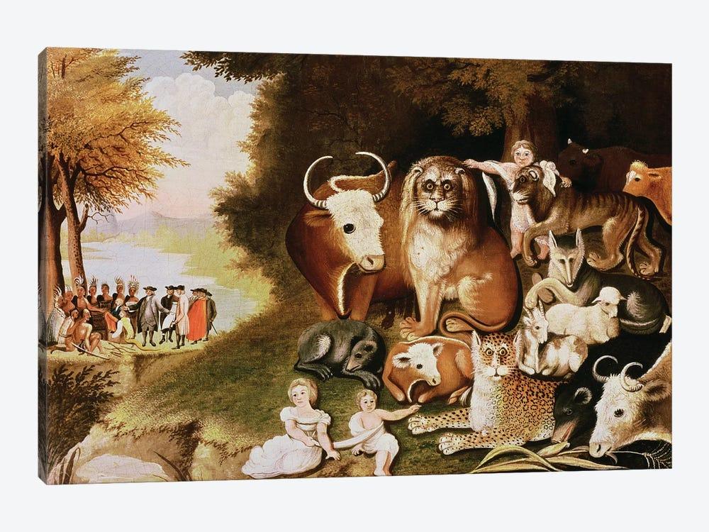 The Peaceable Kingdom, 1832-34  by Edward Hicks 1-piece Canvas Wall Art