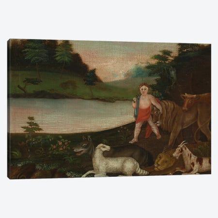 The Peaceable Kingdom, c.1816-18  Canvas Print #BMN10102} by Edward Hicks Canvas Wall Art
