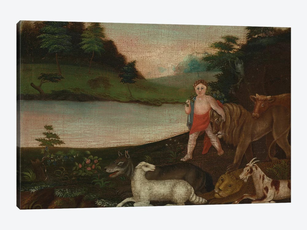 The Peaceable Kingdom, c.1816-18  by Edward Hicks 1-piece Canvas Print