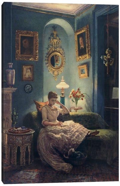 An Evening at Home, 1888  Canvas Art Print