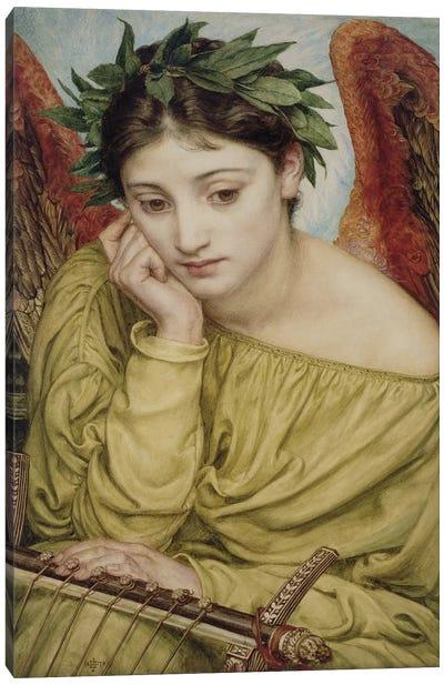 Erato, Muse of Poetry, 1870  Canvas Art Print