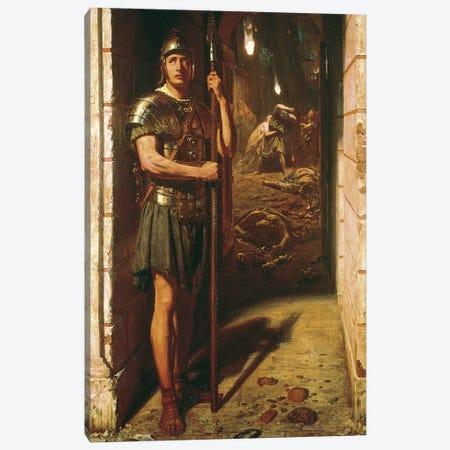 Faithful unto Death, 1865  Canvas Print #BMN10108} by Edward John Poynter Canvas Wall Art