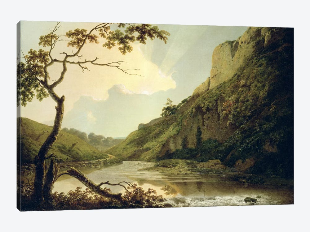 Matlock Tor, c.1778-80 by Joseph Wright of Derby 1-piece Canvas Wall Art